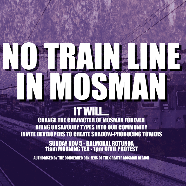 No Train Line in Mosman
